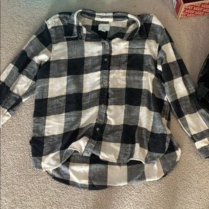 American eagle flannel black and white